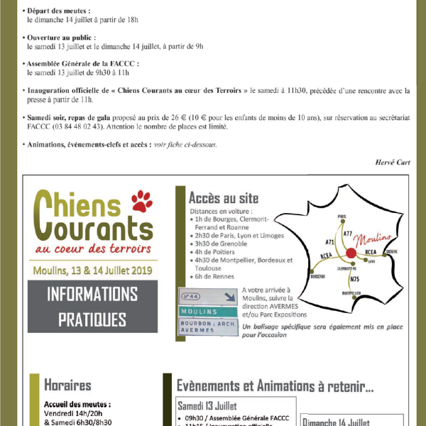 30 ans chiens courants