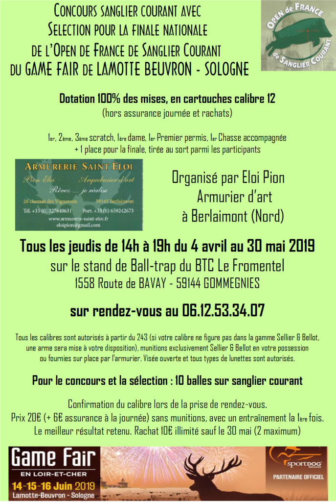 concours sanglier courant